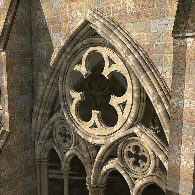 3d medieval hallway hall model