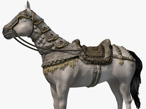 armored horse 3d max
