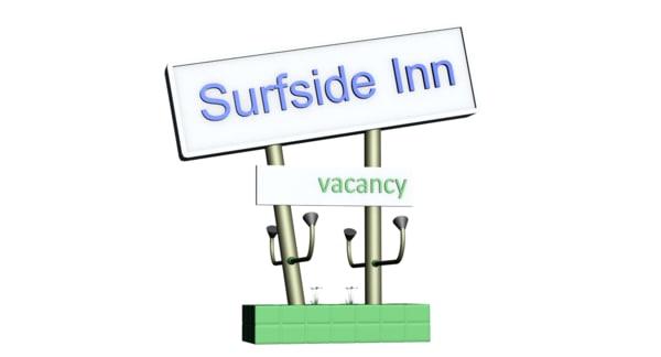3d model motel beach units