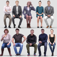 3D Human Model Vol. 1 Sitting People