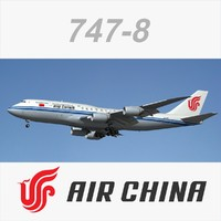 3dsmax boeing 747-8 air china