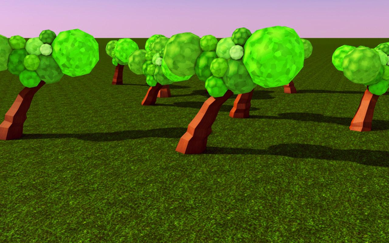 3d tree low-poly model