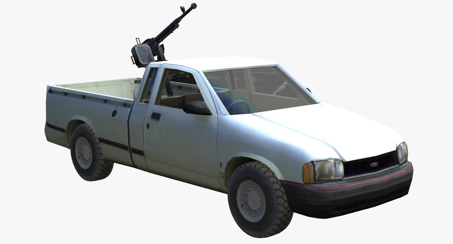 3d model technical 4x4 pickup truck