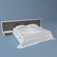 king size bed 3d max