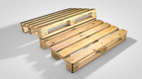 3d wooden pallet model