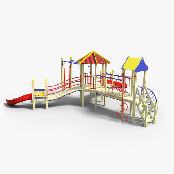 children s playground 3d max