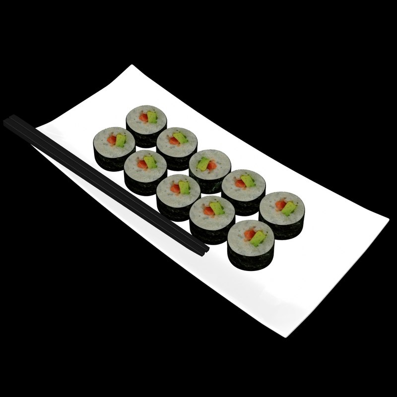 sushi chopsticks 3d obj