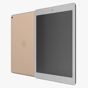3d model of ipad air 2 gold