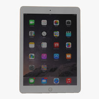 ipad air 2 gold 3d model