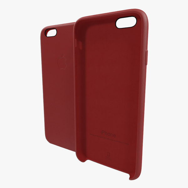 iphone 6 leather case 3d c4d