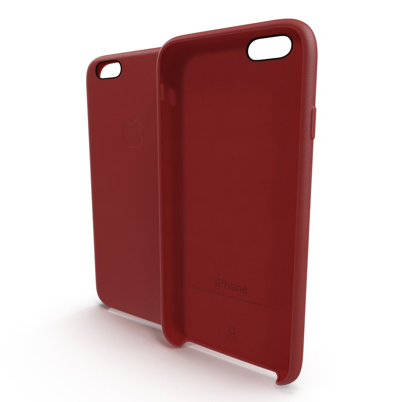 iphone 6 leather case 3d c4d