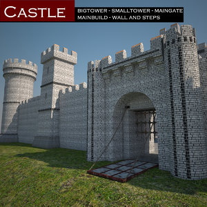 3d castle tower