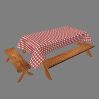 Picnic Table with Cloth