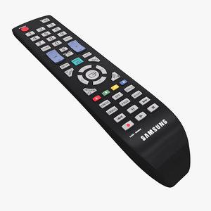 3ds max realistic samsung remote control