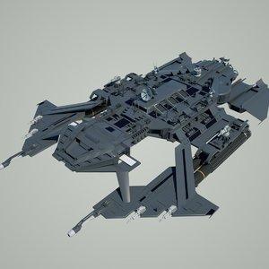 3d model scifi battlestar