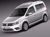 3d 2016 van passenger model