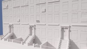 3d brownstone building