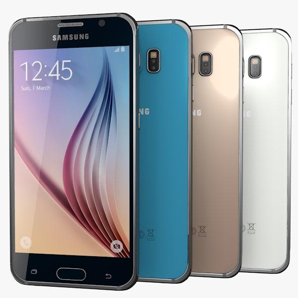 3d samsung galaxy s6 colors model