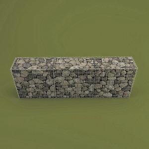 3d model gabion stone