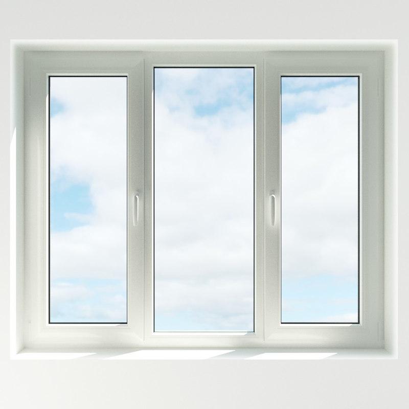 3ds max rigged plastic window