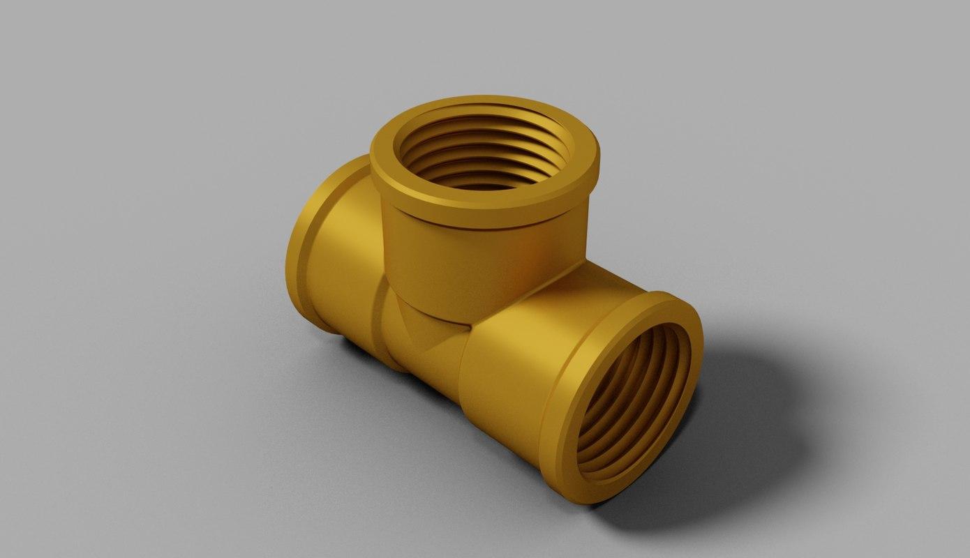 3d model plumbing 0 5 inch