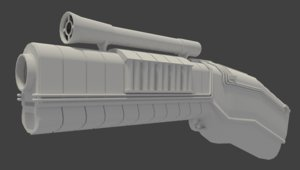 sci-fi gun 3d 3ds