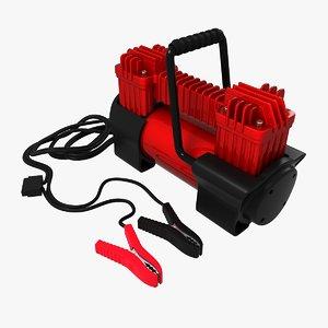 3d model of car compressor 1