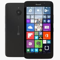 microsoft lumia 640 black 3d max