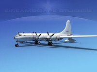 3d propellers boeing rb-50 superfortress model