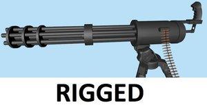 minigun chain gun bullet 3d 3ds