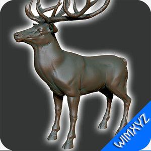 deer statue 3d model