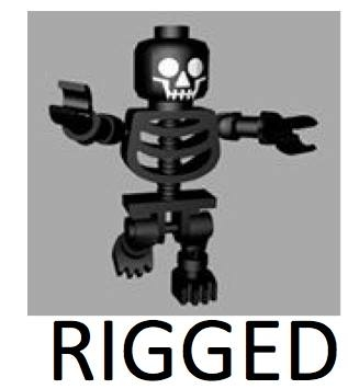 3d lego skeleton rigged