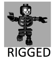 3d lego skeleton rigged