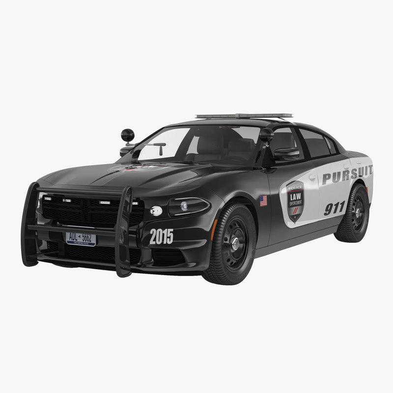 generic police car 3d 3ds