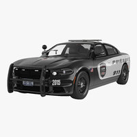 generic police car 3d 3ds