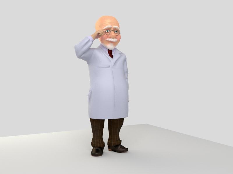 3d professor character te model