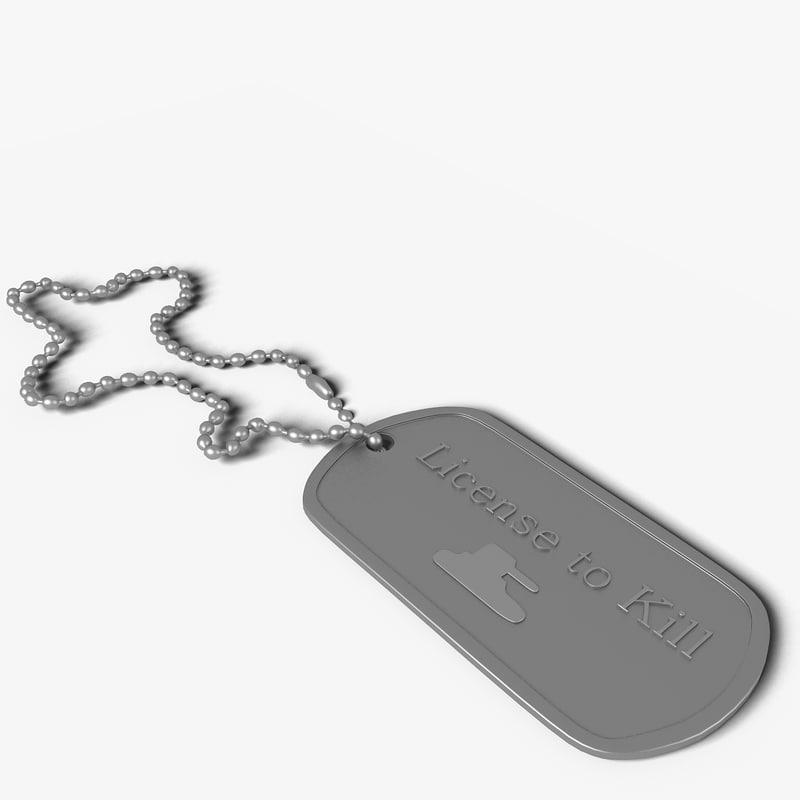 3d tag army model