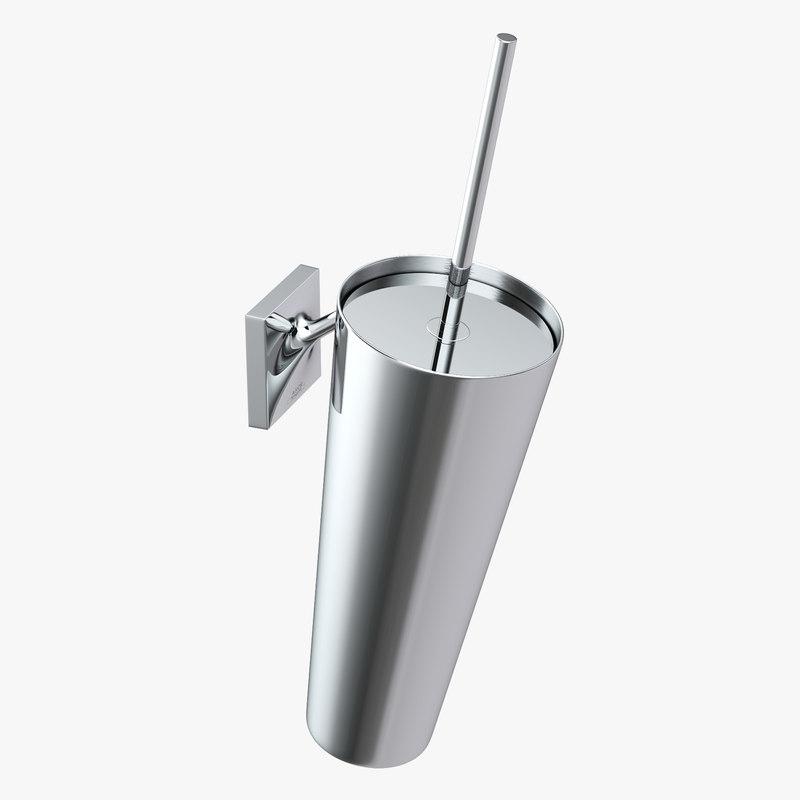 toilet brush axor starck 3d model
