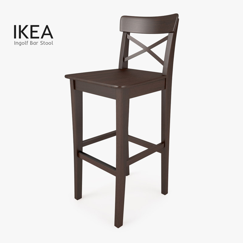 3d model ikea ingolf bar stool. Black Bedroom Furniture Sets. Home Design Ideas