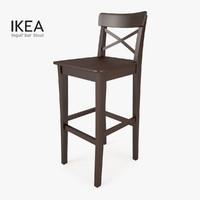 3d model ikea ingolf bar stool