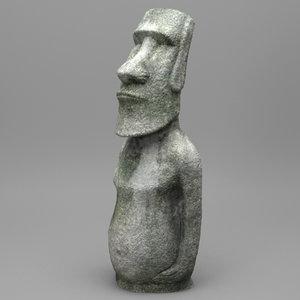3d easter moai