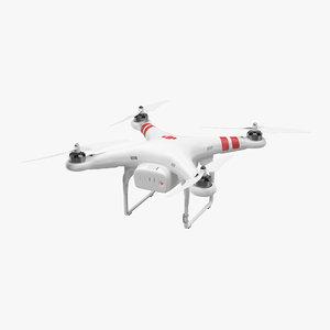 dji phantom 2 quadrocopter 3d max