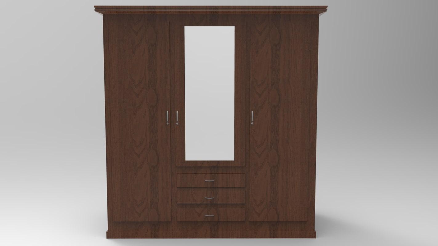 obj cupboard almirah