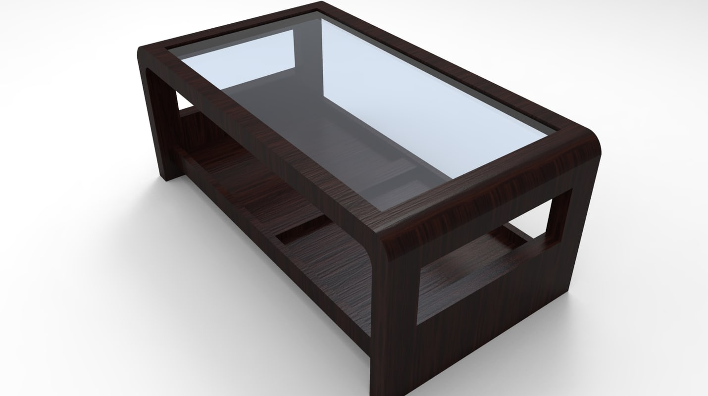 3d model glass table