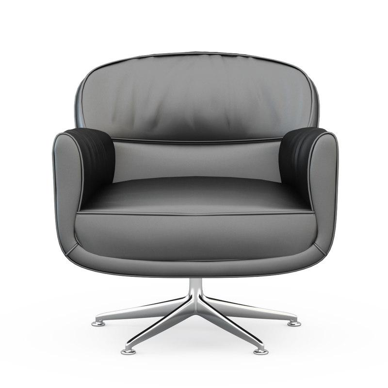 3d model armchair mascheroni utopias