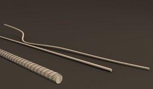 3D model metal wire