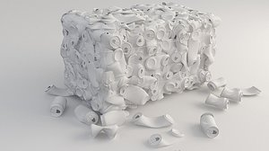 3D crushed cans recycling