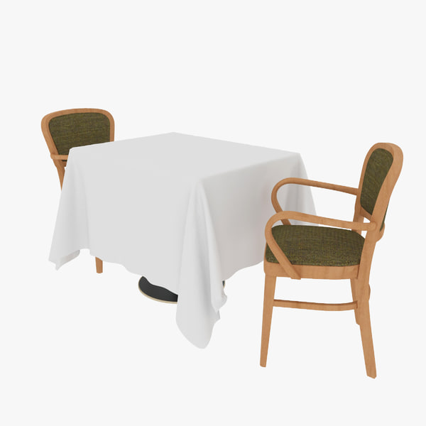 3d table chair sets