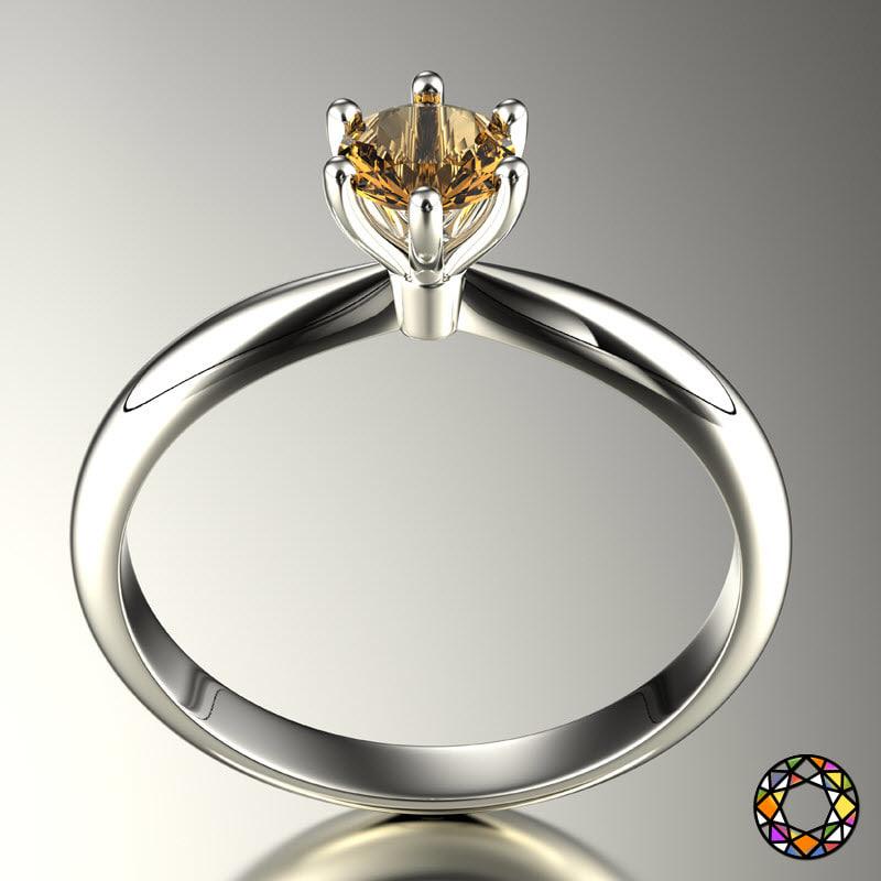 engagement ring set size 3d model