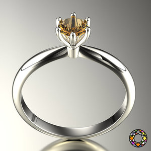 engagement ring set size 3d model